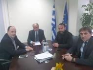 Συνάντηση του Περιφερειάρχη με τον πρόεδρο του Επιμελητηρίου Αχαΐας Πλάτωνα Μαρλαφέκα
