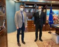 Συνάντηση Αντιπεριφερειάρχη Π.Ε. Ηλείας Β. Γιαννόπουλου με Υπουργό Ναυτιλίας