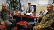 Συνάντηση του Γρ. Αλεξόπουλου με τον Ταξίαρχο του ΚΕΤΧ – στη σκιά του τραγικού δυστυχήματος
