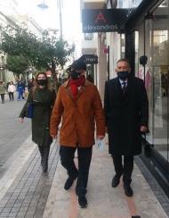 Ο Αντιπεριφερειάρχης Π.Ε. Αχαΐας, Χ. Μπονάνος, κοντά στους επαγγελματίες για την επαναλειτουργία της αγοράς