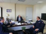 Συνάντηση του Περιφερειάρχη Απόστολου Κατσιφάρα με τη νέα ηγεσία της Πυροσβεστικής Υπηρεσίας Δυτικής Ελλάδας