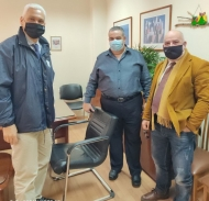 Συνάντηση Φωκίωνα Ζαΐμη & Παναγιώτη Σακελλαρόπουλου με τον Διοικητή του Καραμανδανείου Νοσοκομείου Παίδων Π. Αθανασόπουλο