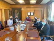 Επίσκεψη και συνάντηση εργασίας του Περιφερειάρχη Δυτικής Ελλάδας, Νεκτάριου Φαρμάκη στην Πρυτανεία του Πανεπιστημίου Πατρών