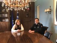 Συνάντηση της Αντιπεριφερειάρχη Χρ. Σταρακά με το νέο Διοικητή της Πυροσβεστικής Υπηρεσίας Π.Ε. Αιτωλοακαρνανίας Χρ. Μπόκα