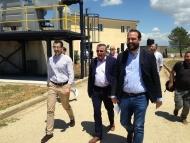Επίσκεψη Περιφερειάρχη στον Βιολογικό Καθαρισμό Γαστούνης - Βαρθολομιού