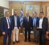 Συνάντηση του Περιφερειάρχη Νεκτάριου Φαρμάκη με τον Υπουργό Αγροτικής Ανάπτυξης και Τροφίμων Μάκη Βορίδη