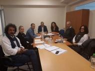 Συνάντηση εργασίας στο γραφείο του Θ. Βασιλόπουλου για τα έργα εδαφικής συνεργασίας INCUBA και BALKANET