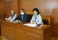 Συνάντηση Μαρίας Σαλμά και Θεόδωρου Βασιλόπουλου με την Ομοσπονδία Αγροτικών Συλλόγων Αιτωλοακαρνανίας