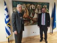 Συνάντηση Αντιπεριφερειάρχη Φ. Ζαΐμη με τον Γ.Γ. Λιμένων, Λιμενικής Πολιτικής και Ναυτιλιακών Επενδύσεων Ε. Κυριαζόπουλο