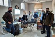 Ο Αντιπεριφερειάρχης Π.Ε. Ηλείας Β. Γιαννόπουλος στην Εθελοντική Αιμοδοσία στα Κρέστενα