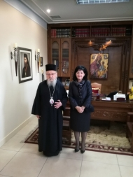 Η Αντιπεριφερειάρχης Π.Ε. Αιτωλοακαρνανίας Μαρία Σαλμά επισκέφθηκε το Μητροπολίτη Αιτωλίας και Ακαρνανίας, κ. Κοσμά
