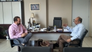 Συνάντηση Απόστολου Κατσιφάρα - Νεκτάριου Φαρμάκη στην Περιφέρεια Δυτικής Ελλάδας