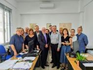 Επίσκεψη του Αντιπεριφερειάρχη Π. Σακελλαρόπουλου στα γραφεία της Διεύθυνσης Δημόσιας Υγείας