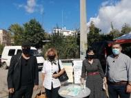 Διανομή μασκών και ενημερωτικού υλικού από την Αντιπεριφερειάρχη Π.Ε. Αιτωλοακαρνανίας Μαρία Σαλμά στη Λαϊκή Αγορά Αγρινίου