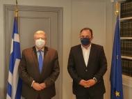 Συνεργασία του Αντιπεριφερειάρχη Ανδρέα Φίλια με το Γενικό Γραμματέα Απόδημου Ελληνισμού Ιωάννη Χρυσουλάκη