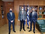 Συνάντηση Ν. Φαρμάκη και Λ. Δημητρογιάννη με τον Υπουργό Περιβάλλοντος και Ενέργειας Κ. Σκρέκα