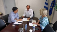 Έργα που βελτιώνουν την ποιότητα ζωής στο επίκεντρο της συνάντησης του Περιφερειάρχη Απόστολου Κατσιφάρα με τον Δήμαρχο Αγρινίου Γιώργο Παπαναστασίου