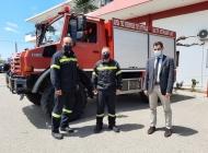 Επίσκεψη Αντιπεριφερειάρχη Π.Ε. Ηλείας Β. Γιαννόπουλου στην Π.Υ. Πύργου - Παραχώρηση οχήματος UNIMOG