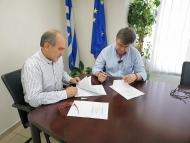 """Προγραμματική σύμβαση για την υλοποίηση του έργου """"Βελτίωση του δρόμου Κατούνα - Λουτράκι"""" στην Π.Ε Αιτωλοακαρνανίας"""