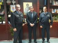 Εθιμοτυπική επίσκεψη στο γραφείο του Αντιπεριφερειάρχη Αχαΐας Γρ. Αλεξόπουλου της νέας Διοίκησης της Πυροσβεστικής Υπηρεσίας