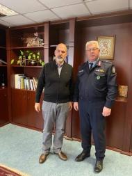 Συνάντηση του Αντιπεριφερειάρχη Χ. Μπονάνου με τον Αστυνομικό Διευθυντή Αχαΐας Γ. Μιχαλόπουλο