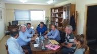 Συνάντηση εργασίας του Αντιπεριφερειάρχη Λάμπρου Δημητρογιάννη με το Δήμαρχο Μεσολογγίου Κώστα Λύρο
