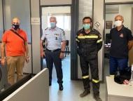 Επίσκεψη Χ. Μπονάνου στο Κέντρο Επιχειρήσεων της Πυροσβεστικής