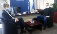 Σύσκεψη υπό τον υπουργό Προστασίας του Πολίτη Μ. Χρυσοχοϊδη στην Περιφέρεια Δυτικής Ελλάδας, για την αύξηση κρουσμάτων COVID-19 στην Πάτρ