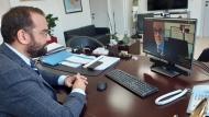 Τηλεδιάσκεψη Περιφερειάρχη Νεκτάριου Φαρμάκη με τον πρύτανη του Πανεπιστημίου Πελοποννήσου Αθανάσιο Κατσή