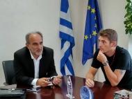 Συνάντηση του Περιφερειάρχη Απόστολου Κατσιφάρα, με αντιπροσωπεία της Κολυμβητικής Ομοσπονδίας Ελλάδας