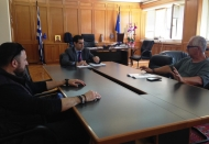 Συνάντηση Αντιπεριφερειάρχη Π.Ε. Ηλείας Β. Γιαννόπουλου με Σωματείο Κομμωτών Ηλείας