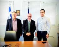 Συνάντηση του Αντιπεριφερειάρχη Παναγιώτη Σακελλαρόπουλου με το Διευθυντή της Πνευμονολογικής Κλινικής του ΠΠΝΠ Αργύριο Τζουβελέκη