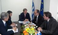 Στην Περιφέρεια Δυτικής Ελλάδας ο Επίτροπος Γιοχάνες Χαν - Η συνάντηση με τον Περιφερειάρχη Απόστολο Κατσιφάρα