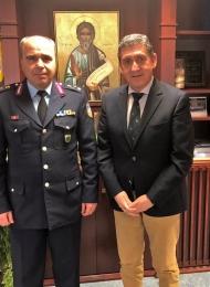 Συνάντηση στο γραφείο του Αντιπεριφερειάρχη Αχαΐας Γρ. Αλεξόπουλου με το Γενικό Περιφερειακό Αστυνομικό Διευθυντή Δυτικής Ελλάδας Ταξίαρχο Κωνσταντίνο Στεφανόπουλο