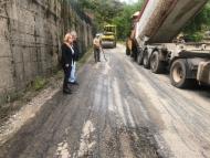 Η Αντιπεριφερειάρχης Χρ. Σταρακά σε επιθεώρηση εργασιών αποκατάστασης του οδικού δικτύου στην Ε.Ο. Άγιος Ανδρέας - Λιθοβούνι - Μεσάριστα