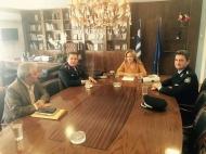 Συνάντηση της Αντιπεριφερειάρχη κ. Χρ. Σταρακά με το Γενικό Περιφερειακό Αστυνομικό Διευθυντή Δυτ. Ελλάδας κ. Αδ. Μητρόπουλο και τον νέο Αστυνομικό Διευθυντή Αιτωλίας κ. Αν. Τσαπικούνη
