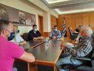 Τεχνική σύσκεψη για έργα αντιπλημμυρικής προστασίας - αυτοψία στον Ενιπέα