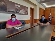 Συνάντηση Αντιπεριφερειάρχη Π.Ε. Ηλείας κ. Γιαννόπουλου με Αθ. Κοτταρά