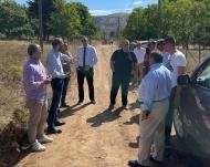 Επίσκεψη Ν. Φαρμάκη στον δρόμο Κουνινά - Ρακίτα όπου ξεκίνησαν οι εργασίες κατασκευής του οδικού άξονα