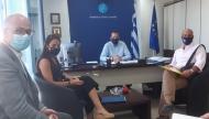 Συνάντηση του Περιφερειάρχη, Νεκτάριου Φαρμάκη, με την Υφυπουργό Εργασίας, Δόμνα Μιχαηλίδου