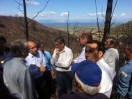 Στις καμένες περιοχές της Δυτ. Αχαΐας ο Γενικός Γραμματέας του υπ. Αγροτικής Ανάπτυξης