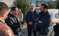 Στις εργασίες συντήρησης της παλαιάς εθνικής οδού στο Αίγιο ο Περιφερειάρχης Ν. Φαρμάκης και ο Αντιπεριφερειάρχης Θ. Μαυρομμάτης
