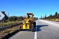 Σ' εξέλιξη εργασίες για την βελτίωση του οδοστρώματος, την σήμανση και τον ηλεκτροφωτισμό στην εθνική οδό Πατρών – Πύργου