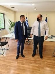 Συνάντηση του Αντιπεριφερειάρχη Θ. Βασιλόπουλου με τον Υφυπουργό Χρ. Τριαντόπουλο - Επαναξιολόγηση πυρόπληκτων αγροκτηνοτρόφων που εξαιρούνται της Κρατικής Αρωγής