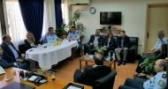 Συνάντηση του Γρηγόρη Αλεξόπουλου με το Γ.Γ. Συντονισμού του Υπουργείου Εσωτερικών στην Αστυνομική Διεύθυνση Αχαΐας μετά την επιχείρηση εκκένωσης