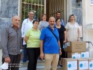 Διανομή υγειονομικού υλικού στο Άσυλο Ανιάτων