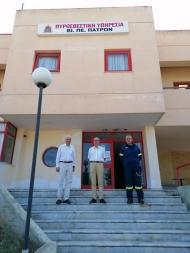 Στην Πυροσβεστική Υπηρεσία της ΒΙΠΕ Πατρών ο Φ. Ζαίμης